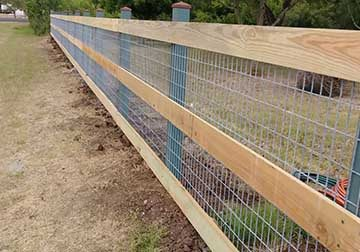 Chain Link Fence with Wood