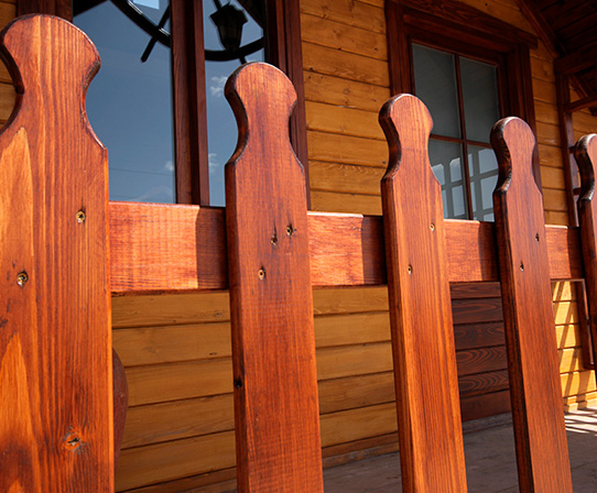 Different wood fencing in style