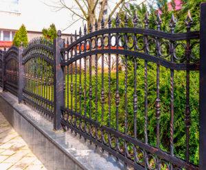 Iron fence in San Antonio TX